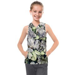 Elegant Flowers A Kids  Sleeveless Hoodie by MoreColorsinLife
