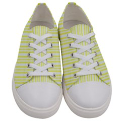 Tarija 016ix  Yellow White  Men s Low Top Canvas Sneakers