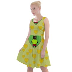 Home Of The Cartoon Bears Knee Length Skater Dress
