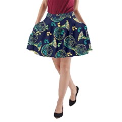 French Horn A-line Pocket Skirt by BubbSnugg