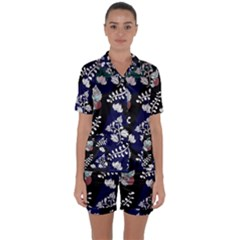 Vivitry Satin Short Sleeve Pyjamas Set