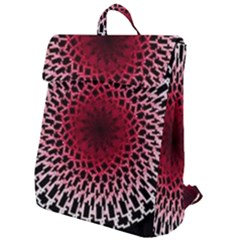 Gradient Spirograph Flap Top Backpack