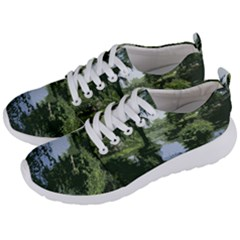 Away From The City Cutout Painted Men s Lightweight Sports Shoes by SeeChicago