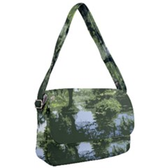 Away From The City Cutout Painted Courier Bag