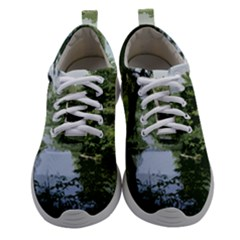 Away From The City Cutout Painted Women Athletic Shoes by SeeChicago