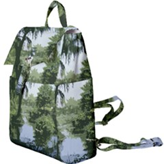 Away From The City Cutout Painted Buckle Everyday Backpack