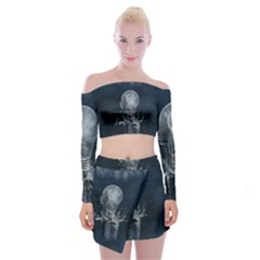Awesome Light Bulb Off Shoulder Top With Mini Skirt Set by FantasyWorld7