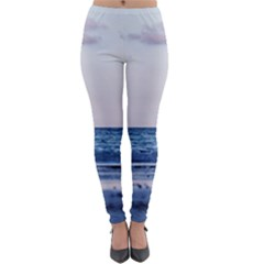 Pink Ocean Hues Lightweight Velour Leggings by TheLazyPineapple