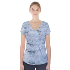 Ocean Waves Short Sleeve Front Detail Top by TheLazyPineapple