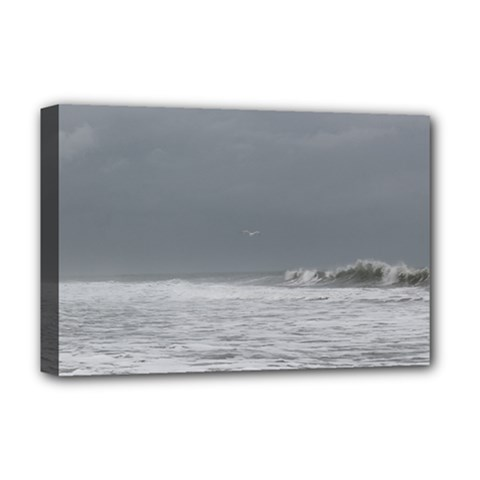 Stormy Seas Deluxe Canvas 18  X 12  (stretched) by TheLazyPineapple