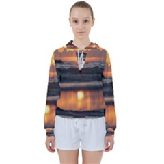 Ocean Sunrise Women s Tie Up Sweat