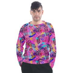 Flowers 50 Men s Long Sleeve Raglan Tee