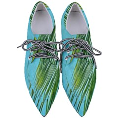 Tropical Palm Women s Pointed Oxford Shoes
