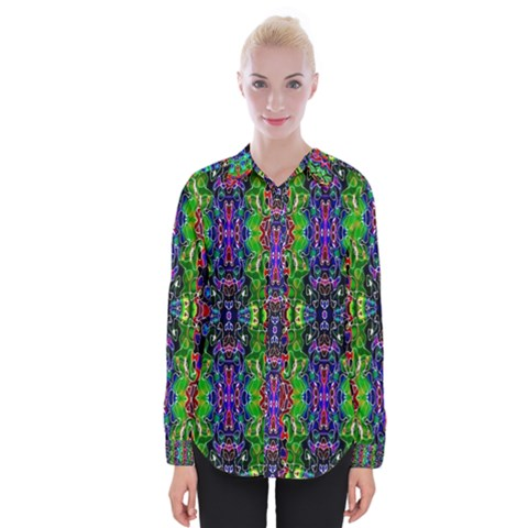Abstract-r-8 Womens Long Sleeve Shirt by ArtworkByPatrick