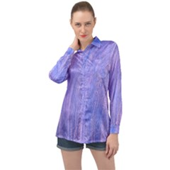 Rings Of Time Long Sleeve Satin Shirt