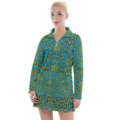 Sun In  The Soft Rainfall Nature Is Blooming Women s Long Sleeve Casual Dress