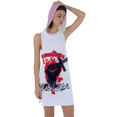 Fight For Hope Hustler Racer Back Hoodie Dress