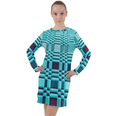 469823231 Glitch37 Long Sleeve Hoodie Dress