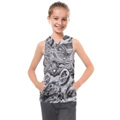 Pebbels In The Pond Kids  Sleeveless Hoodie by ScottFreeArt
