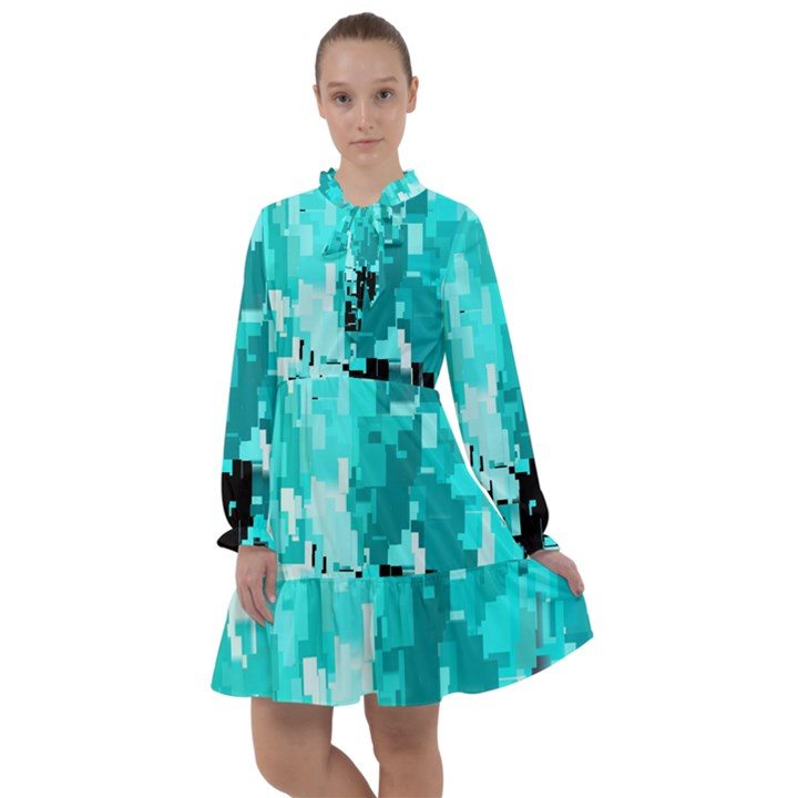 469823231 Glitch48 All Frills Chiffon Dress