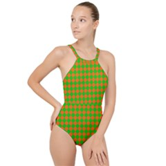 Generated Glitch20 High Neck One Piece Swimsuit
