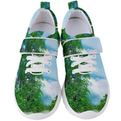 Airbrushed Sky Women s Velcro Strap Shoes by Fractalsandkaleidoscopes