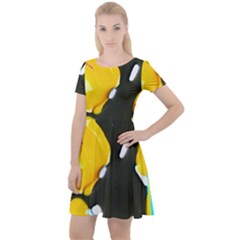 Africa As It Is 1 3 Cap Sleeve Velour Dress
