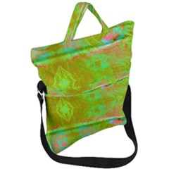 Tank Yellow  #scottfreeart N Green Purple Img 1589 Fold Over Handle Tote Bag