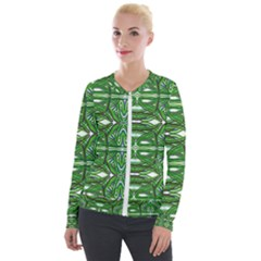 My Paint My Pallet Brocade Green Scarabs Velour Zip Up Jacket by ScottFreeArt