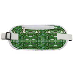 My Paint My Pallet Brocade Green Scarabs Rounded Waist Pouch