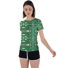 My Paint My Pallet Brocade Green Scarabs Back Circle Cutout Sports Tee