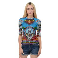 Grateful Dead Wallpapers Quarter Sleeve Raglan Tee