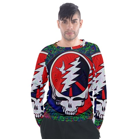 Grateful Dead Men s Long Sleeve Raglan Tee by Sapixe