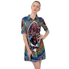 Grateful Dead Ahead Of Their Time Belted Shirt Dress by Sapixe