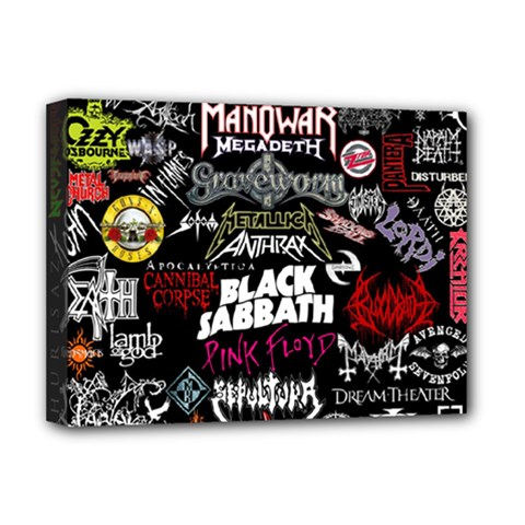Metal Bands College Deluxe Canvas 16  X 12  (stretched)  by Sudhe