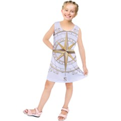 Points Of The Compass Navigation Compass Map Kids  Tunic Dress