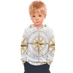 Points Of The Compass Navigation Compass Map Kids  Overhead Hoodie