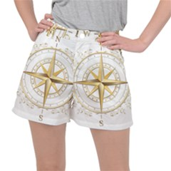 Points Of The Compass Navigation Compass Map Ripstop Shorts