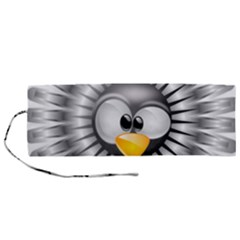 Owl Fluff Prance Animal Surprised Roll Up Canvas Pencil Holder (m)
