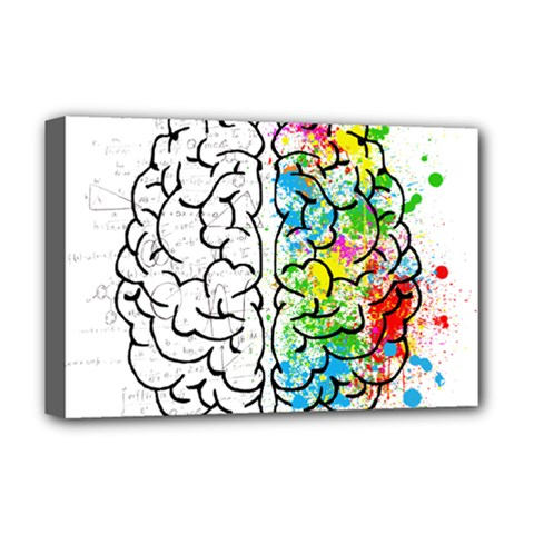 Brain Mind Psychology Idea Drawing Deluxe Canvas 18  X 12  (stretched) by Bejoart