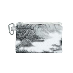 Ink Wash Painting Mountain Rolling Mountains Canvas Cosmetic Bag (small)