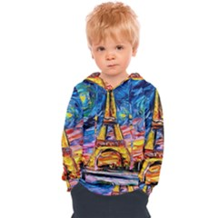 Eiffel Tower Starry Night Print Van Gogh Kids  Overhead Hoodie