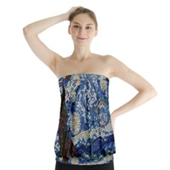 Mosaic Art Vincent Van Gogh s Starry Night Strapless Top