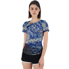 Mosaic Art Vincent Van Gogh s Starry Night Back Cut Out Sport Tee