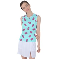 Donuts Pattern Food Colourful Women s Sleeveless Sports Top by Vaneshart