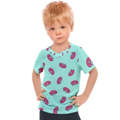 Donuts Pattern Food Colourful Kids  Sports Tee