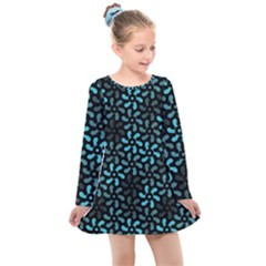 Decorative Flower Nature Abstract Kids  Long Sleeve Dress