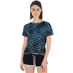 Decorative Flower Nature Abstract Open Back Sport Tee