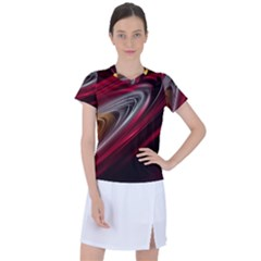 Circle Background Red Dark Bokeh Women s Sports Top