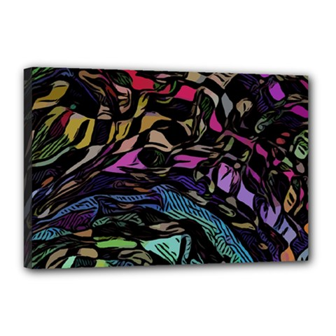 Background Drawing Colorful Pattern Canvas 18  X 12  (stretched)